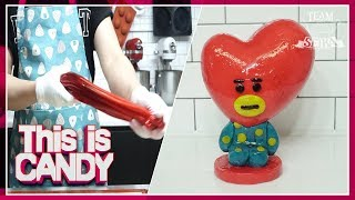 "[Candy Making ASMR ] sugar slime TATA of BTS ""V"" making"