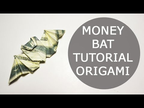 Money Bat Origami Dollar Tutorial DIY Folded