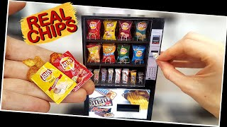Mini CHIPS Vending Machine With REAL, But Mini CHIPS!! :) DIY / So Yummy/ ASMR / Mini Cooking