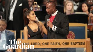 Aretha Franklin funeral bishop apologises to Ariana Grande