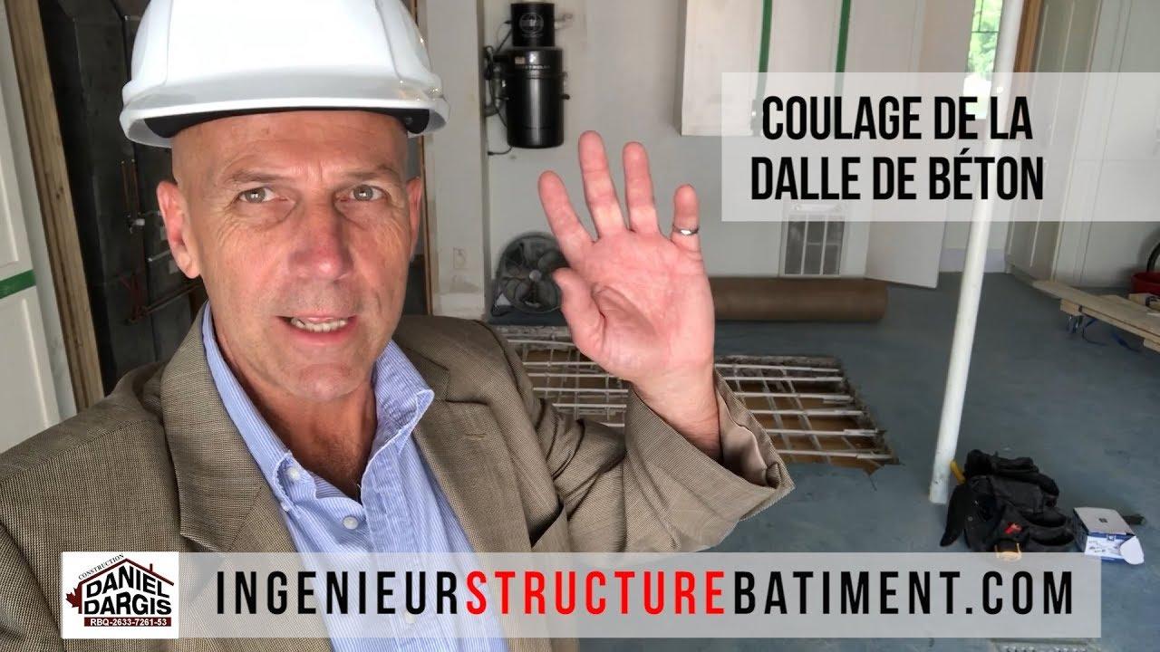 Inspection de conformité du coulage de béton de dalle - Daniel Dargis ingénieur en structure