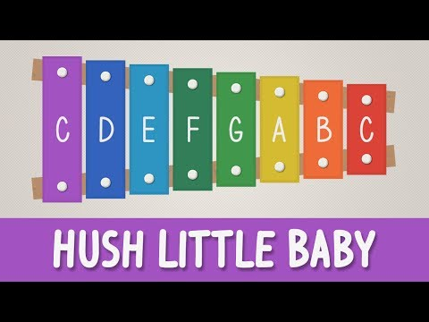 How to play Hush Little Baby on a Xylophone - Easy Songs - Tutorial
