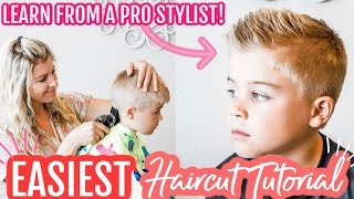 How To Cut Boys Hair With Clippers For Beginners | How To Cut Hair At Home
