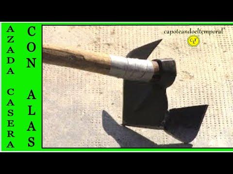 azada casera con alas ( especial para sallar o aporcar ) hoe with wings (especially for ridging)