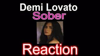 DEMI LOVATO 'SOBER' (LYRIC VIDEO) - REACTION
