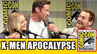 X-Men: Apocalypse Comic Con Panel - Jennifer Lawrence, Michael Fassbender, Hugh Jackman