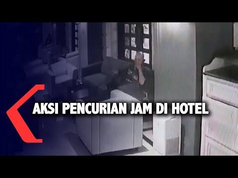 aksi pencurian jam mahal di hotel terungkap