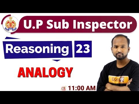 Class-23   UP Sub Inspector 2019    Reasoning    By Pulkit Sir    ANALOGY