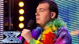 Keith Beukelaer Does It In Tie-Dye Style - THE X FACTOR USA 2013