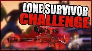EPIC LONE SURVIVOR CHALLENGE ON SQUADS!! (FORTNITE BATTLE ROYALE GAMEPLAY)