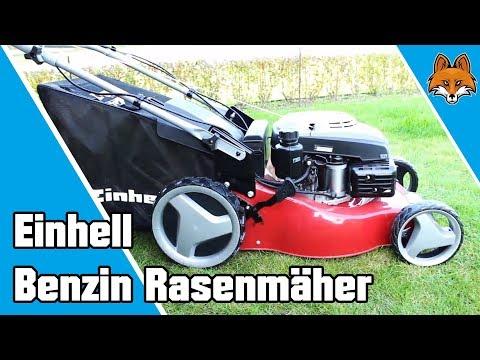 Benzin Rasenmäher mit Antrieb und Elektrostarter von Einhell im Test 🏆
