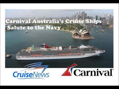Carnival Australia's Five Sydney-based Cruise Ships, Salute to the Navy