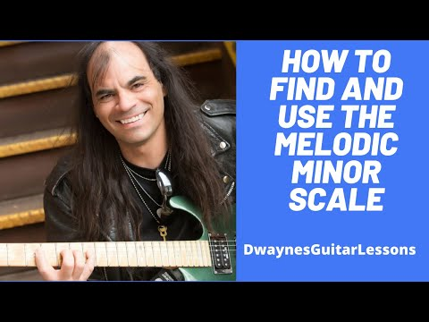 How to find and use the melodic minor scale on your guitar.
