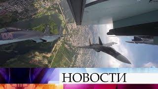 На вековой юбилей липецкой военной авиации слетелись все пилотажные группы ВКС.