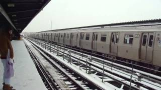 preview picture of video 'BMT Myrtle Ave Line: R160A-1 M Trains at Central Ave-Myrtle Ave'