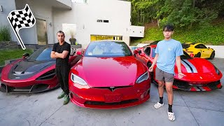 Tesla Model S Plaid vs Our SUPERCARS!