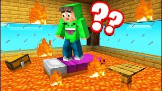 FLOOR Is LAVA HOUSE TROLL In MINECRAFT! (Funny)