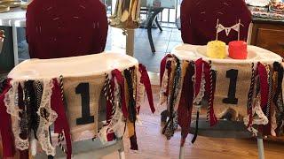 DIY High Chair Banner: TWINS BIRTHDAY PARTY VLOG!