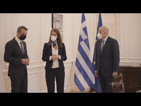 Συνάντηση του Πρωθυπουργού με την Αναπληρώτρια Πρωθυπουργό & ΥΠΕΞ του Βελγίου, Sophie Wilmès