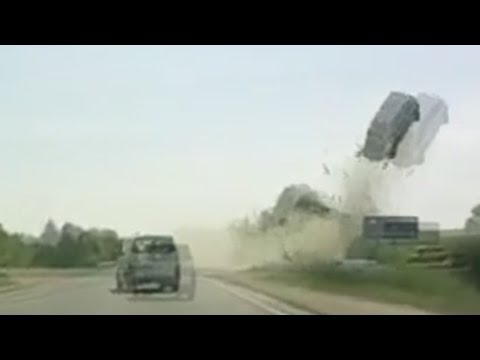Car Launched into the Air