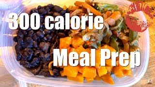 Healthy Meal Prep | 300 Calories | Beans Squash Quinoa Veggies