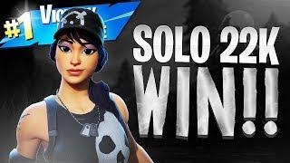 SOLO 22 KILL WIN! - Fortnite Battle Royale