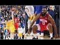 Rockets beat Warriors on James Hardens epic 3pointer NBA Highlights