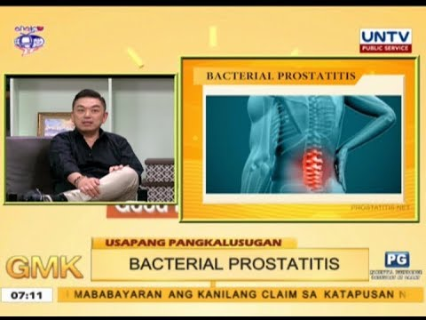 A method of treatment of bacterial prostatitis