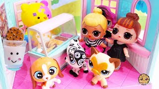 Crazy For Cookies ! LOL Surprise Dolls + Littlest Pet Shop Cookie Swirl Toy Play Video