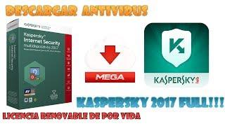 ☛☛Descargar Antivirus Kaspersky 2017► 32 Y 64 BITS◄ FULL ☛Licencia Renovable De Por Vida!!!◄