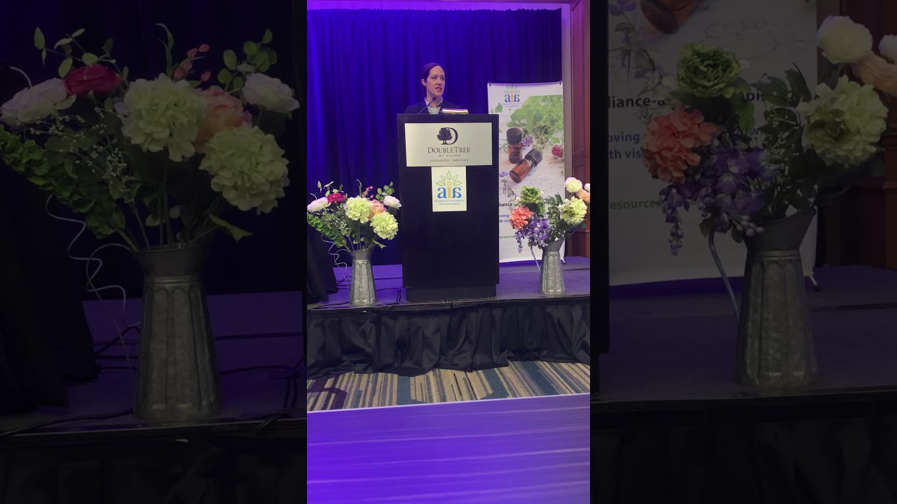 Anne Gillum speaking at AIA-International Aromatherapy Conference - Sept 2019