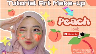 Tutorial Makeup Buah Peach 🍑  // Face Art Painting For Beginner