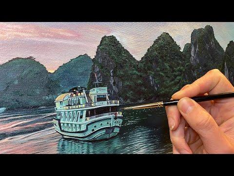 Thumbnail of Time Lapse - Halong Bay Vietnam - Landscape Oil Painting