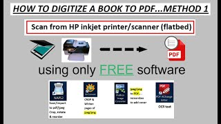 How to digitize a book to pdf - using free software & flatbed scanner