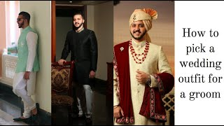 Indian Groom Dress For Wedding | Groom Outfit Ideas | Giveaway At The End