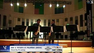 DUO A. Fotiadis & D. Palamidas play Deucue by R. Lemay #adolphesax