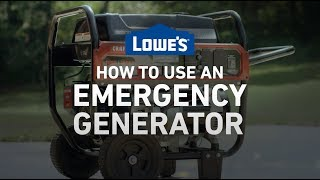 How To Use an Emergency Generator   Severe Weather Guide