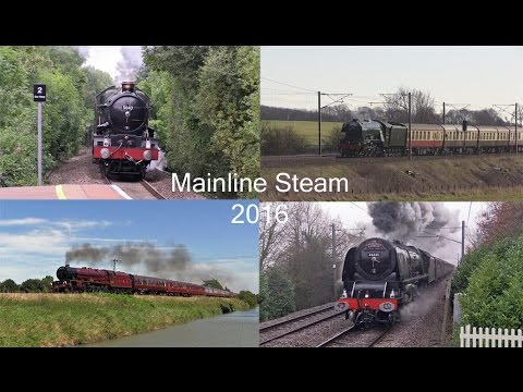 LMS, SR, LNER & GWR Steam on the Main Line in 2016