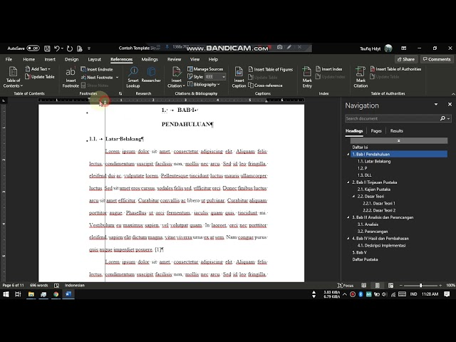 Cara Membuat Template Skripsi Pada Word
