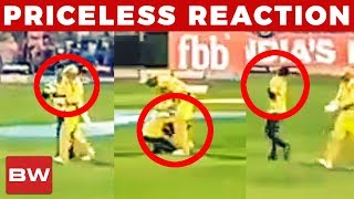 Fan Touches MS Dhoni Feet During CSK Vs RR Match | IPL 2018