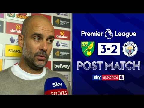 Pep wants improvement to central defence partnership | Guardiola Post Match | Norwich 3-2 Man City