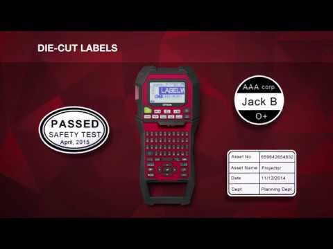 Epson LabelWorks LW-Z900FK Portable Industrial Label Printer video thumbnail
