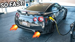 FLAME TUNE For My Nissan GTR!!! (SUPER FAST!)