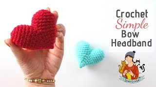 Crochet 3D Valentine's Day Heart / Amigurumi For Beginners