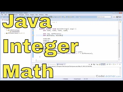 13 - Basic Arithmetic with Integer Variables in Java