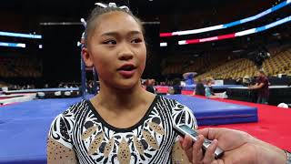 Interview: Sunisa Lee - Day 2, 2018 US Championships