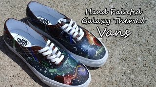 Galaxy Themed Vans | Hand Painted | DIY