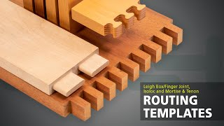 Leigh F3 Box/Finger Joint Template, Isoloc Templates, And The M2 Multiple Mortise & Tenon Attachment