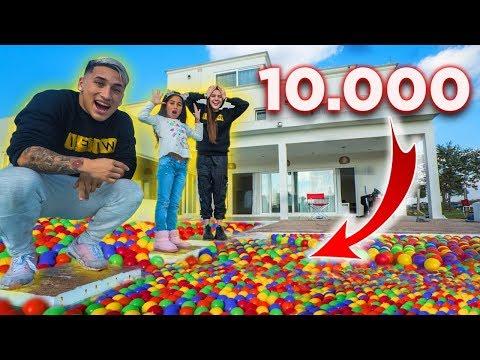 LLENAMOS UNA PISCINA CON +10.000 BOLAS Y HACEMOS PLANCHAZOS EXTREMOS ! VIRAL
