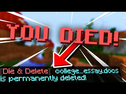 This Minecraft Mod Deletes Random Files When You Die